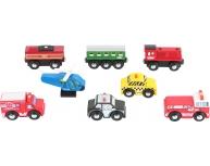 Set 8 vehicule lemn