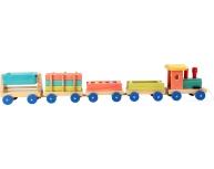 Tren lemn, 14 piese
