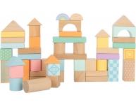 Set 50 cuburi construcţie Pastel