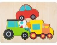 Puzzle pe 3 straturi mijloace de transport