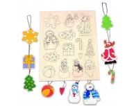 Set 14 ornamente lemn
